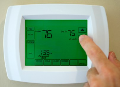 Thermostat service by South Shore Mechanical, LLC
