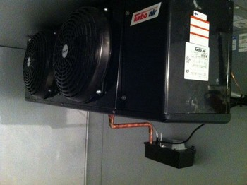 Piping and Start up of a walkin cooler at a frozen yogurt store by South Shore Mechanical, LLC